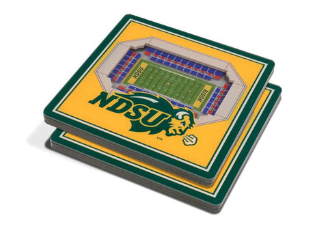 NCAA North Dakota State Bison 3D StadiumViews Coasters