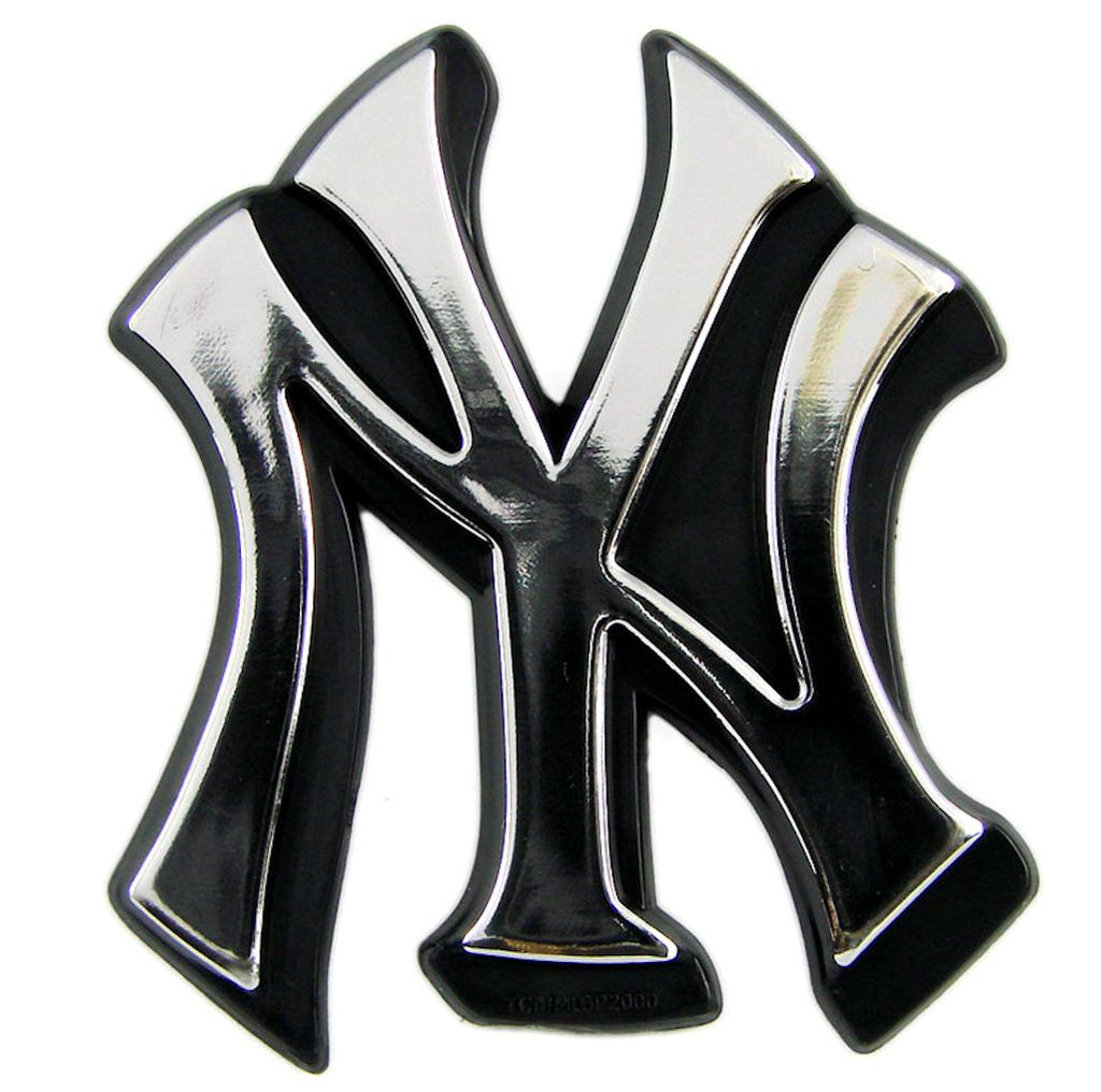 New York Yankees Silver Auto Emblem
