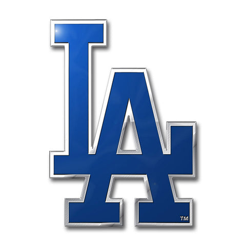 Los Angeles Dodgers 'True Fan' Die Cut Color Auto Emblem