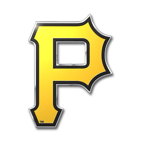 Pittsburgh Pirates 'True Fan' Die Cut Color Auto Emblem