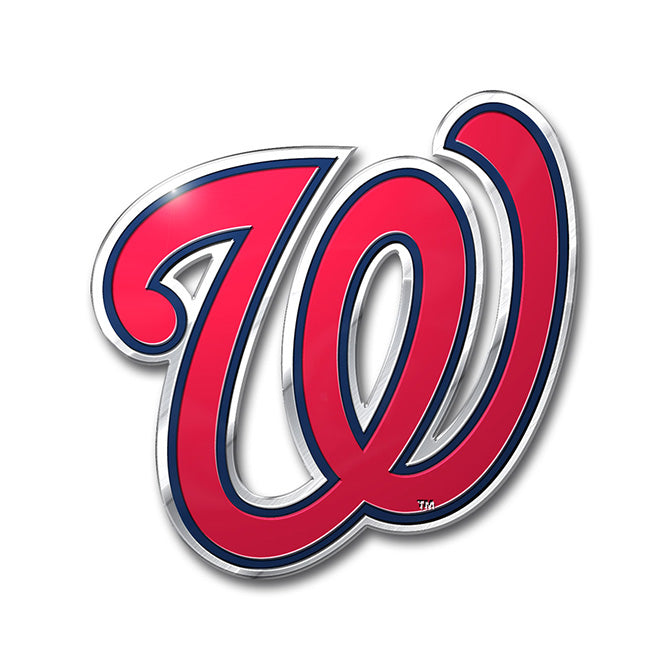 Washington Nationals 'True Fan' Die Cut Color Auto Emblem