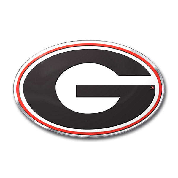Georgia Bulldogs 'True Fan' Die Cut Color Auto Emblem