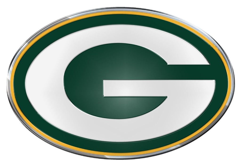 Green Bay Packers 'True Fan' Die Cut Color Auto Emblem