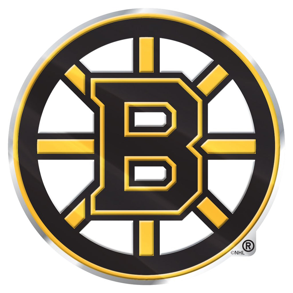Boston Bruins 'True Fan' Die Cut Color Auto Emblem