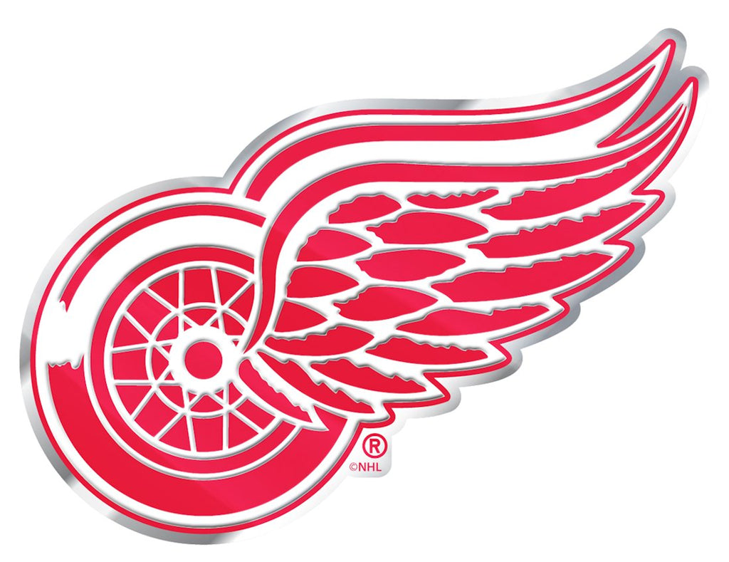 Detroit Red Wings 'True Fan' Die Cut Color Auto Emblem