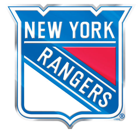 New York Rangers 'True Fan' Die Cut Color Auto Emblem