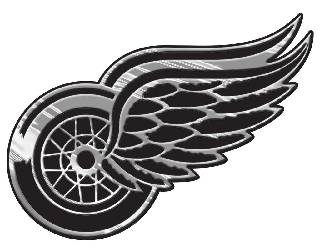 Detroit Red Wings Silver Auto Emblem