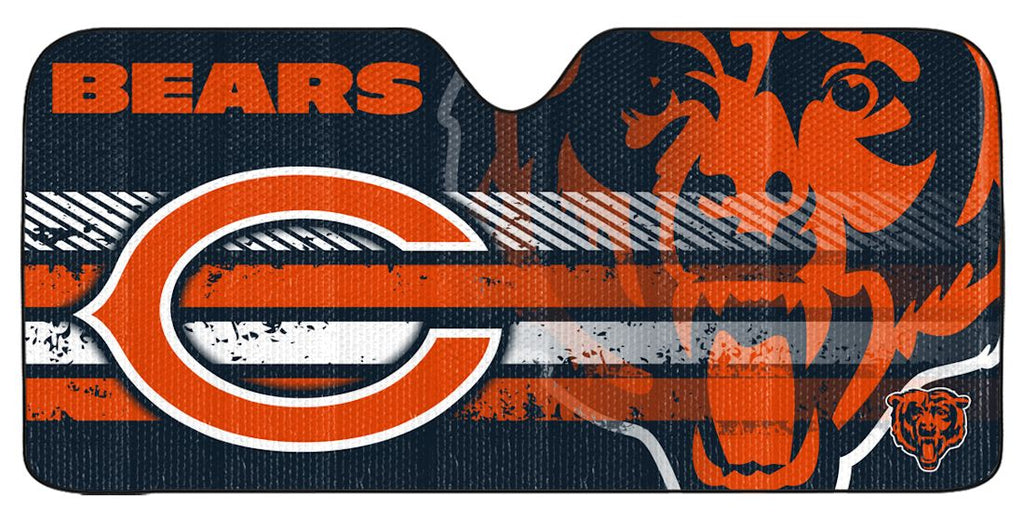 "Chicago Bears Universal Reflective Auto Sun Shade - 59""x27"""