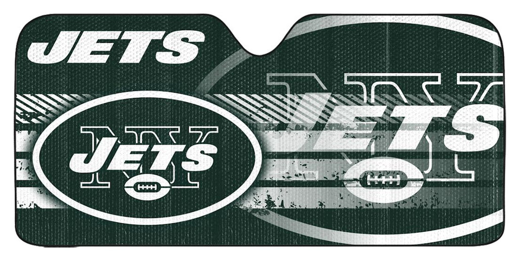 "New York Jets Universal Reflective Auto Sun Shade - 59""x27"""