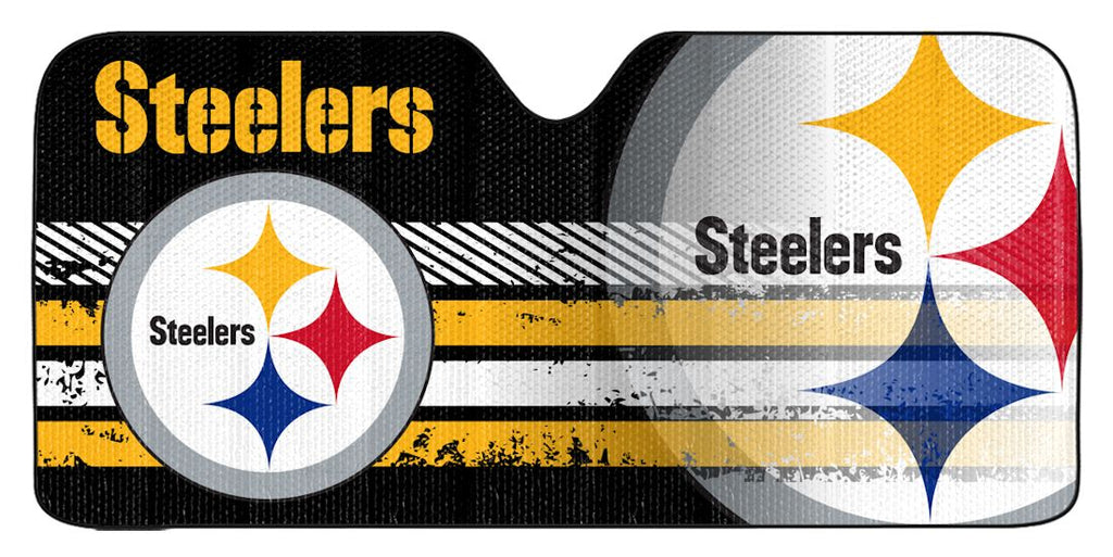 "Pittsburgh Steelers Universal Reflective Auto Sun Shade - 59""x27"""