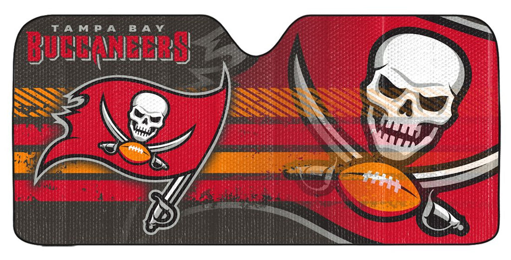 "Tampa Bay Buccaneers Universal Reflective Auto Sun Shade - 59""x27"""