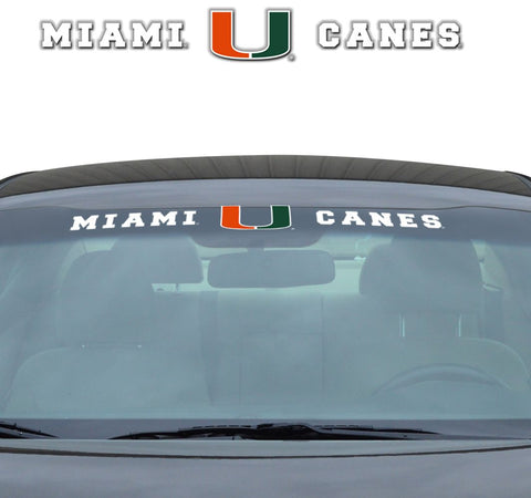 "Miami Hurricanes ""Team Pride"" Windshield Decal"