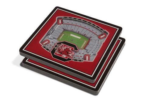 NCAA South Carolina Gamecocks 3D StadiumViews Coasters