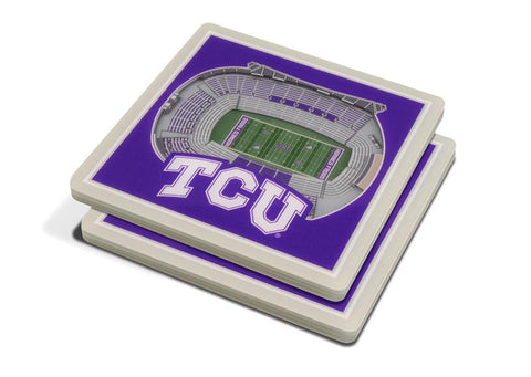 NCAA TCU Horned Frogs 3D StadiumViews Coasters