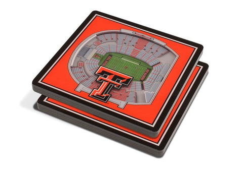 NCAA Texas Tech Red Raiders 3D StadiumViews Coasters