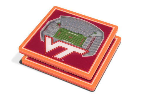 NCAA Virginia Tech Hokies 3D StadiumViews Coasters