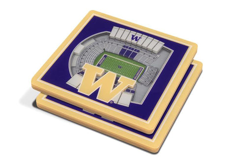 NCAA Washington Huskies 3D StadiumViews Coasters