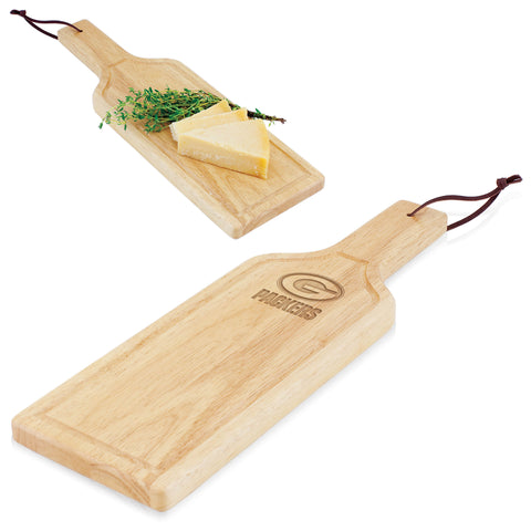 Green Bay Packers 'Botella' Cheese Board & Serving Tray-Rubberwood Laser Engraving