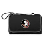 Florida State Seminoles 'Blanket Tote' Outdoor Picnic Blanket-Black Digital Print