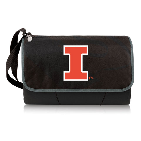 Illinois Fighting Illini 'Blanket -  Tote' Outdoor Picnic Blanket