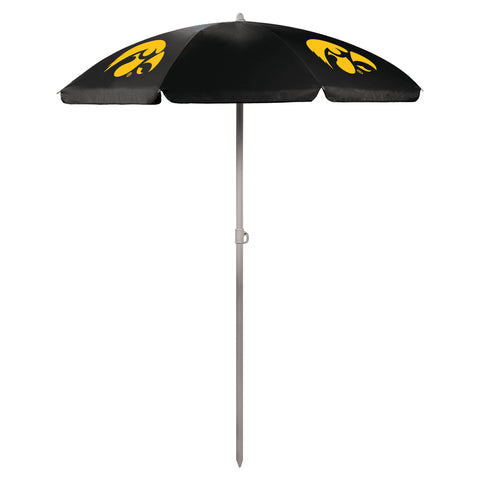 Iowa Hawkeyes '5.5' Portable Beach Umbrella-Black Digital Print
