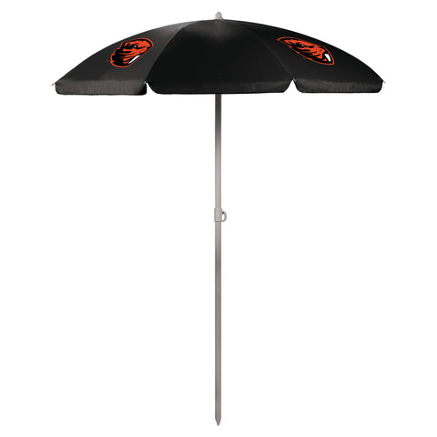 Oregon State Beavers '5.5' Portable Beach Umbrella-Black Digital Print