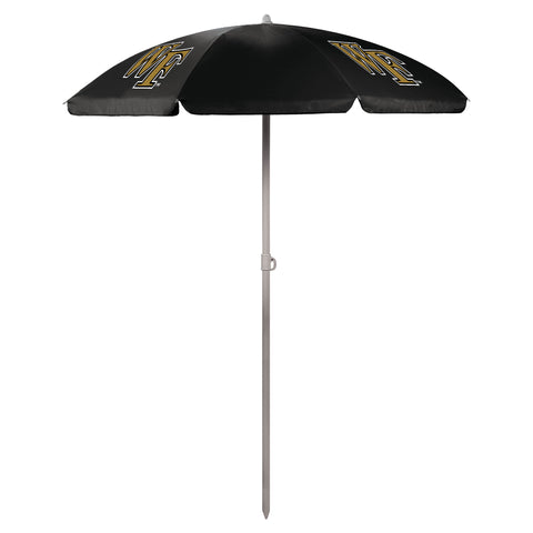 Wake Forest Demon Deacons '5.5' Portable Beach Umbrella-Black Digital Print