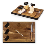 Colorado State Rams 'Delio' Acacia Cheese Board & Tools Set-Acacia Laser Engraving