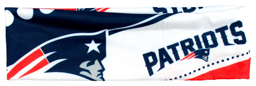 New England Patriots Stretch Patterned Headband