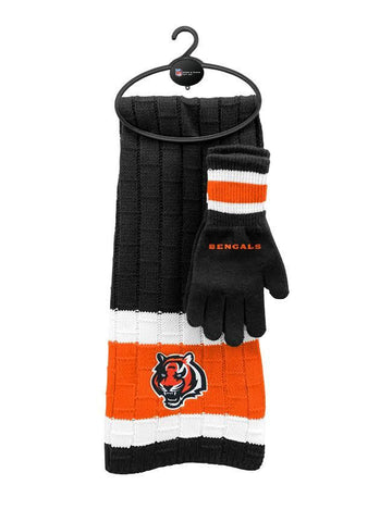 Cincinnati Bengals - Limited Edition Heavy Knit Glove & Scarf Gift Set