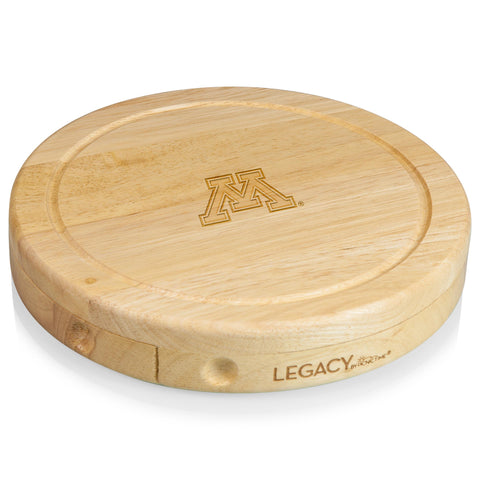 Minnesota Golden Gophers 'Brie' Cheese Board & Tools Set-Natural Wood Laser Engraving