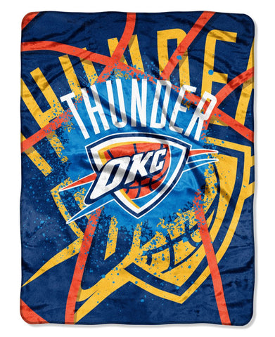 "Oklahoma City Thunder 60""x80"" Royal Plush Raschel Throw Blanket"