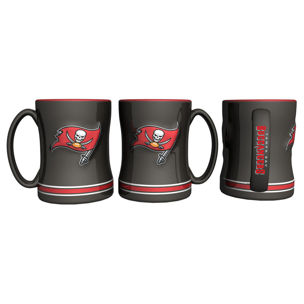 e3c07608 Tampa Bay Buccaneers Coffee Mug - 14oz Sculpted Relief - New Logo
