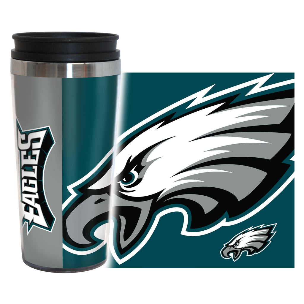 Philadelphia Eagles Travel Mug 14oz Full Wrap Style Hype Design