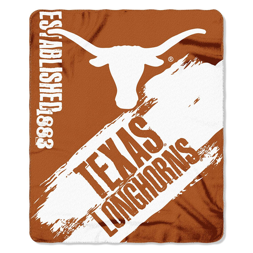 Texas Longhorns NCAA Fleece Blanket Painted Design