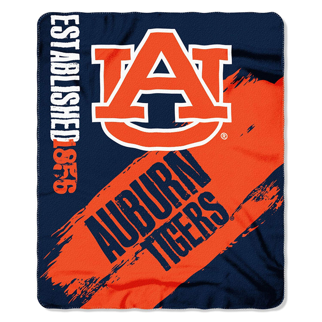 Auburn Tigers NCAA Fleece Blanket Painted Design