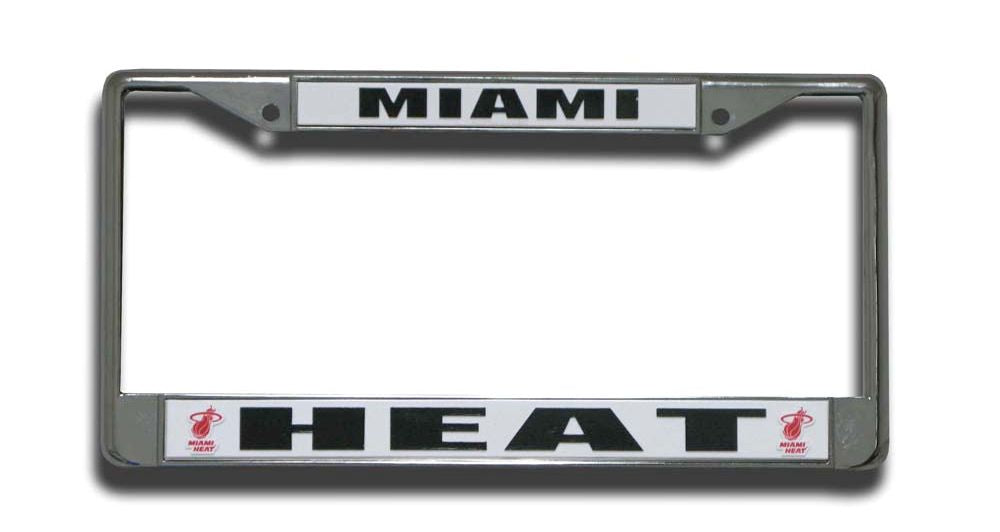 Miami Heat Chrome License Plate Frame