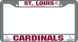 St. Louis Cardinals Chrome License Plate Frame