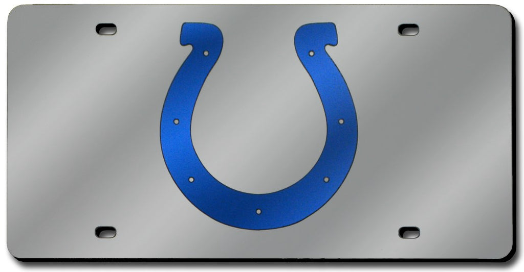 Indianapolis Colts Laser Cut Silver License Plate