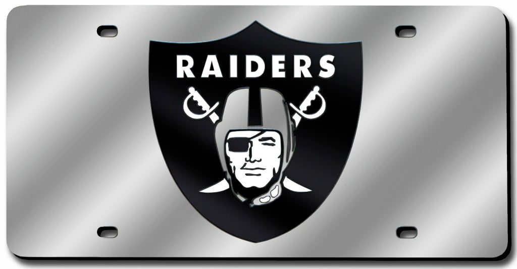 Raiders Laser Cut Silver License Plate