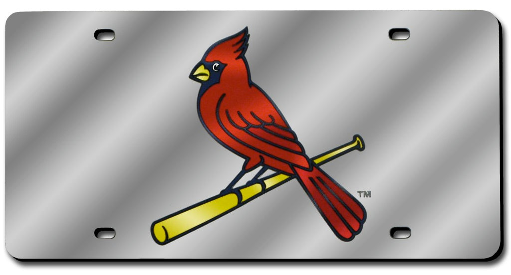 St. Louis Cardinals Laser Cut Silver License Plate