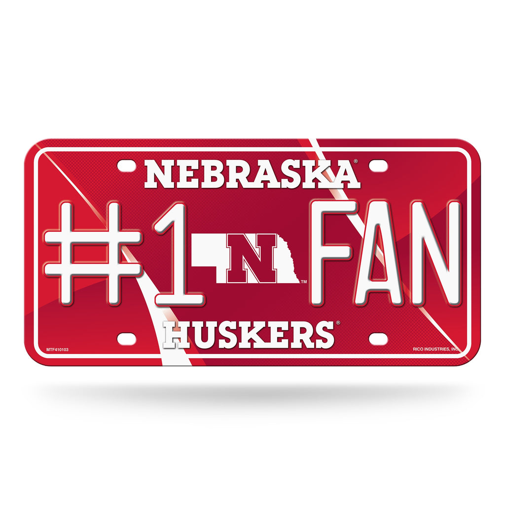 Nebraska Cornhuskers License Plate - #1 Fan