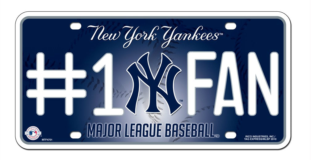 New York Yankees License Plate - #1 Fan