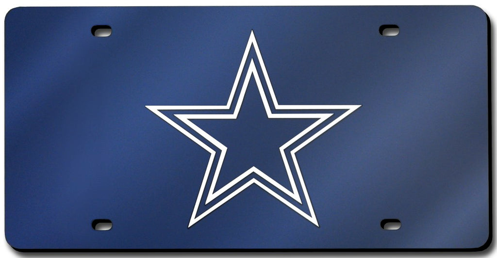 Dallas Cowboys Laser Cut Navy License Plate