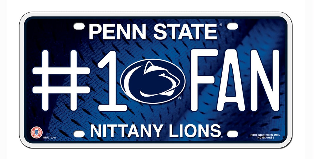 Penn State Nittany Lions License Plate - #1 Fan