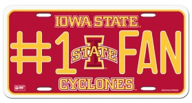 Iowa State Cyclones License Plate - #1 Fan
