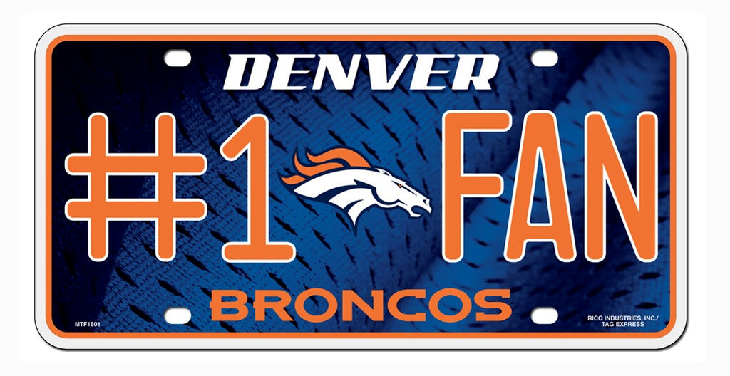 Denver Broncos License Plate - #1 Fan