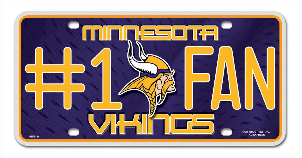 Minnesota Vikings License Plate - #1 Fan