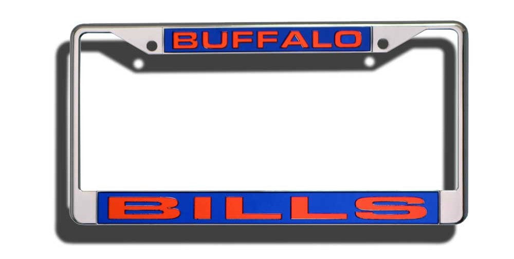 Buffalo Bills Laser Cut Chrome License Plate Frame