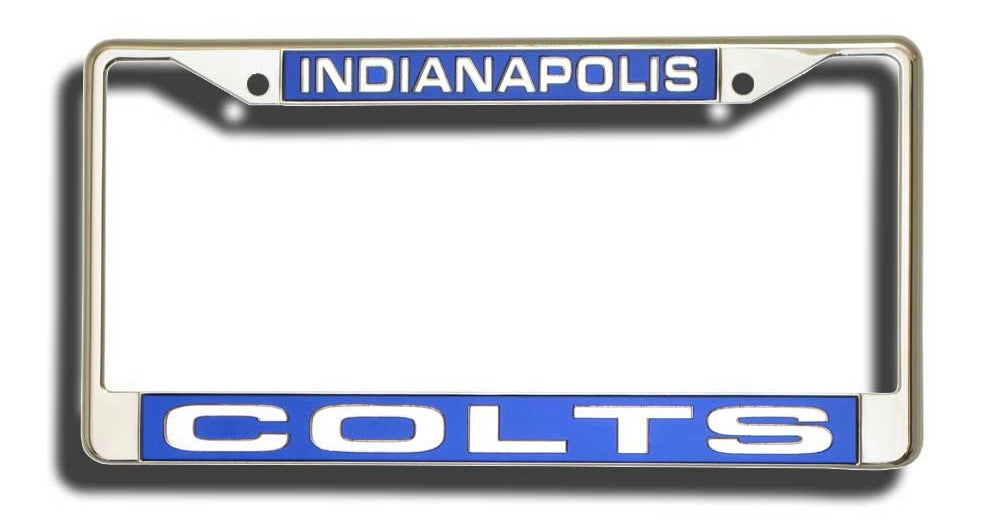 Indianapolis Colts Laser Cut Chrome License Plate Frame